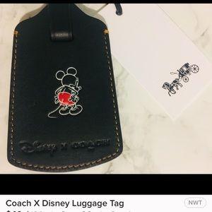COACH X Disney luggage tag/Limited edition